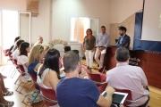 Fernández, Tortella y De Juan en un momento de la presentación del nuevo Consell de la Infància i Adolescència del  IMAS,.