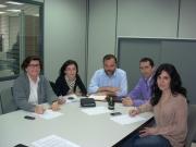 Representantes del Consell, el Govern y el Ayuntamiento de Palma en la reunión de esta mañana.