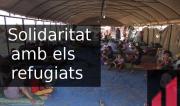 Banner Solidaritat amb els refugiats